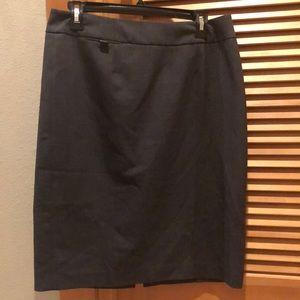 Calvin Klein stretch dark grey skirt EUC